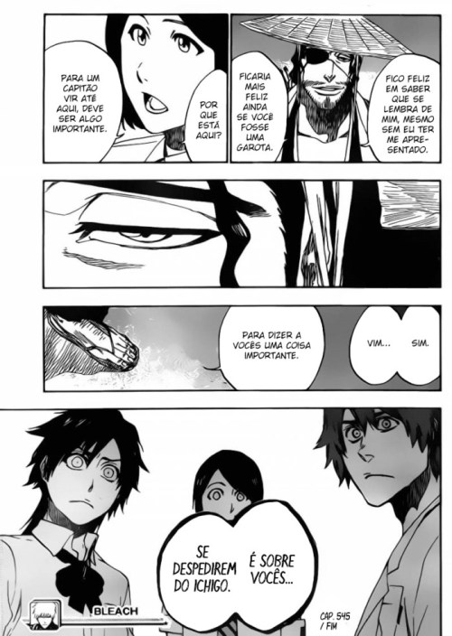 Quando o Kyouraku faz cara séria, é porque a coisa é séria